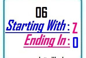 Six letter words starting with Z and ending in O