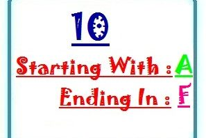 Ten letter words starting with A and ending in F