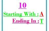 Ten letter words starting with A and ending in T