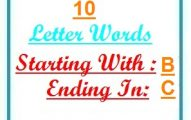 Ten letter words starting with B and ending in C