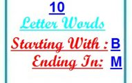 Ten letter words starting with B and ending in M