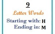 Nine letter words starting with H and ending in M