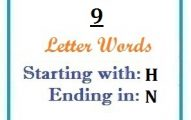 Nine letter words starting with H and ending in N