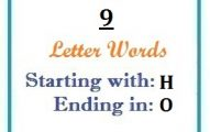 Nine letter words starting with H and ending in O