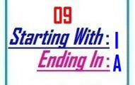 Nine letter words starting with I and ending in A