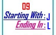Nine letter words starting with J and ending in L