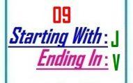 Nine letter words starting with J and ending in V
