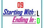 Nine letter words starting with L and ending in D