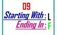 Nine letter words starting with L and ending in F