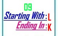 Nine letter words starting with L and ending in K