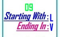 Nine letter words starting with L and ending in V