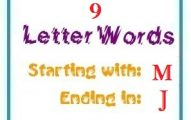 Nine letter words starting with M and ending in J