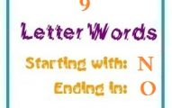 Nine letter words starting with N and ending in O