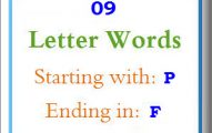 Nine letter words starting with P and ending in F