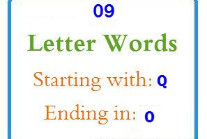Nine letter words starting with Q and ending in O