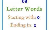 Nine letter words starting with Q and ending in X