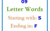 Nine letter words starting with S and ending in F