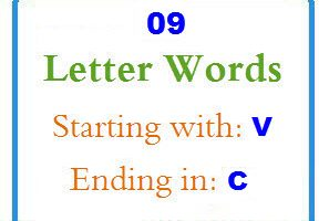 Nine letter words starting with V and ending in C