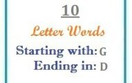 Ten letter words starting with G and ending in D