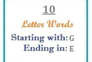 words starting with G and ending in E | Letters in Word