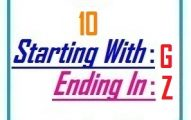 Ten letter words starting with G and ending in Z