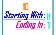Ten letter words starting with H and ending in T