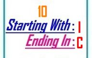 Ten letter words starting with I and ending in C
