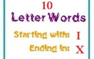 Ten letter words starting with I and ending in X