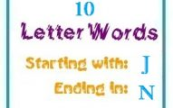 Ten letter words starting with J and ending in N