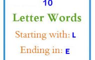 Ten letter words starting with L and ending in E
