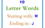 Ten letter words starting with M and ending in J