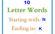 Ten letter words starting with N and ending in K