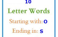 Ten letter words starting with O and ending in S