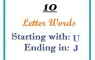 Ten letter words starting with U and ending in J