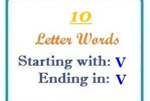 Ten letter words starting with V and ending in V