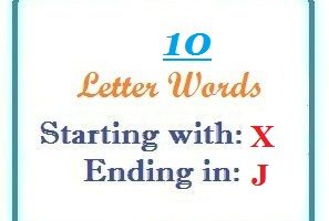 Ten letter words starting with X and ending in J