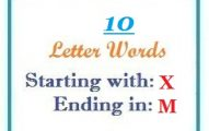 Ten letter words starting with X and ending in M