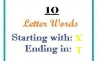Ten letter words starting with X and ending in T