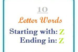 Ten letter words starting with Z and ending in Z