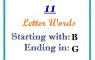 Eleven letter words starting with B and ending in G
