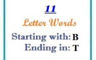 Eleven letter words starting with B and ending in T