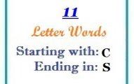 Eleven letter words starting with C and ending in S