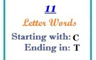 Eleven letter words starting with C and ending in T