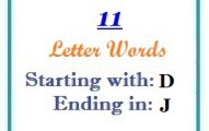 Eleven letter words starting with D and ending in J