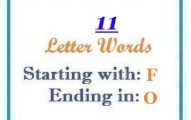 Eleven letter words starting with F and ending in O
