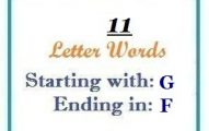 Eleven letter words starting with G and ending in F