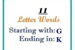 Eleven letter words starting with G and ending in K