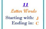 Eleven letter words starting with J and ending in C