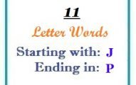 Eleven letter words starting with J and ending in P