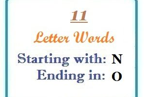 Eleven letter words starting with N and ending in O